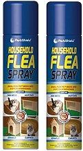 2 X 200ml Pest Shield Household Flea, Killer,