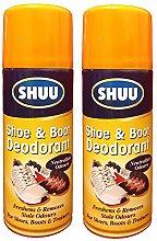 2 x 200ml Shoe & Boot Deodorant Spray For Shoe
