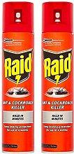 2 x 300ml Raid Ant & Cockroach Intant Killer Spray