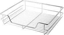 2 x 600mm Pull Out Chrome Wire Basket Drawers for