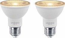 2 x 8w LED Reflector Bulb E27 PAR20 Track Light