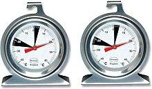 2 x Brannan Premium Dial Fridge Freezer Thermometer