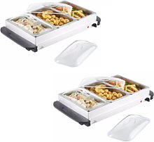 2 X Buffet Warmer Food Server 300w Stainless Steel