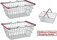 2 x Children's Kids Mini Chrome Shopping