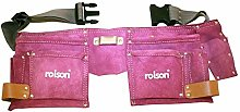2 X Double Leather Tool Pouch - Pink