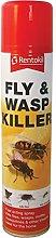 2 x Fly & WASP Killer AEROSOL Spray 300ml