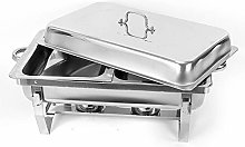 2 x food pan, stainless steel warming container,