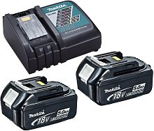 2 x Genuine Makita 18V 5.0Ah LXT Lithium Battery