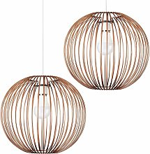 2 x Globe Ceiling Pendant Light Shades In Copper