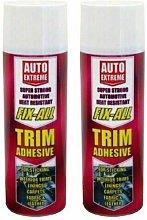 2 x Heat Resistant Fix-All Trim Adhesive Glue