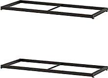 2 X KOMPLEMENT Clothes rail, black-brown75x35 cm+