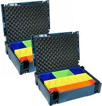 2 x Makita MAKPAC 1 Organiser Coloured Container