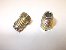 2 x Male 10mm x 1.25mm Brake Pipe End Union Nut