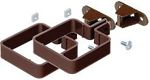 2 x Marley Square Guttering Pipe Clips RCE2w with