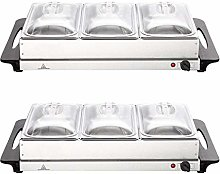 2 X NJ-9003 Buffet Warmer Stainless Steel 300W