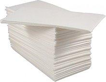 2 X Pack of 50 Luxury White Paper Airlaid