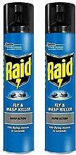 2 x Raid Fly Wasp Killer Rapid Action Spray Can