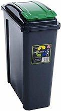 2 x Recycling Bin Slim Kitchen Trash Can Rubbish