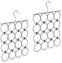 2 x Scarf Hanger, Folding Holder for Ties & Belts,