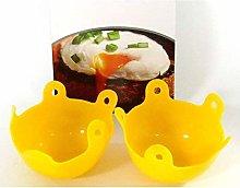 2 x Silicone Egg Poachers Pan Egg Cups Egg Boiler