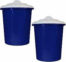 2 x Simpa® 23L 23Litre Blue Plastic Multi-Purpose