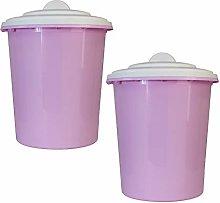 2 x Simpa® 23L 23Litre Pink Plastic Multi-Purpose