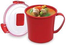 2 X Sistema Microwave Soup Mug - 656 ml, Red