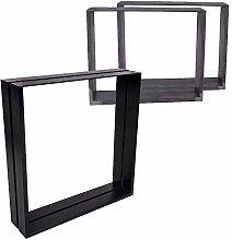 2 x Table/Bench Legs Designer Metal Steel