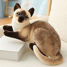 20-45cm Stuffed Lifelike Siamese Cats Plush Toy
