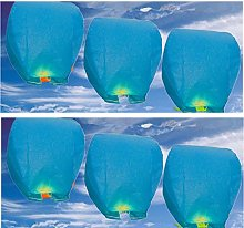 20 Blue - Chinese Flying Sky Lanterns (A Liittle