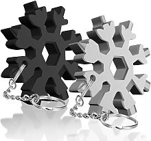 20 in 1 Snowflake Multi-Tool with Keychain Useful