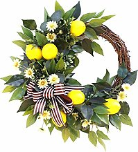 æ— 20 Inch Artificial Fruit Wreath, Spring