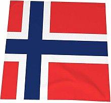 20 Inch Cloth Napkins,Norwegian Flag 4Pcs Cotton