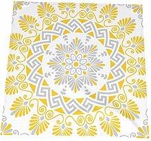 20 Inch Cloth Napkins,Yellow And Gray Greek Key