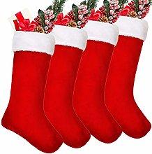20 Inches Velvet Christmas Stockings Plush