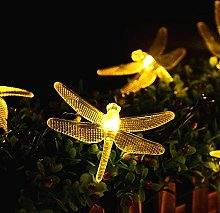20 LED Dragonfly Waterproof Solar Outdoor String