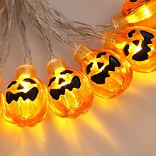 20 LED Lights 3D Pumpkin String Fairy Lights,