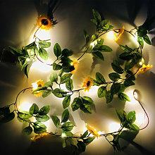 20 LED Sunflower Garland String Lights, 6.6ft