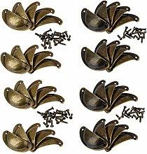 20 or 40Pcs Bronze Cabinet Cup Handles Door Knob