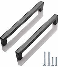 20 Pack 128mm Kitchen Cabinet Handles Black