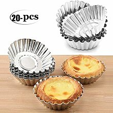 20-Pack Aluminum Egg T-shaped Pudding Molds Muffin