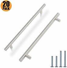 20 Pack Kitchen Door Handles Brushed Nickel -