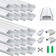 20-Pack LED Aluminum Profile, LightingWill LED