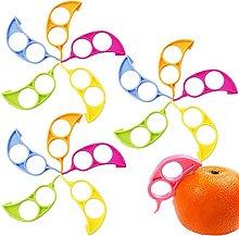 20 Pcs Orange Citrus Peelers Plastic Fruit Peeler