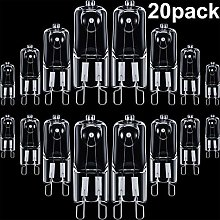 20 Pieces G9 Halogen Light Bulbs Clear Capsule