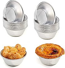 20 Pieces Puto Cup Mould, Aluminum Baking Cups