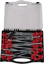 20 Tent Pegs & Extractor Kit - Carry Case Camping