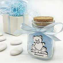 20 x Glass Spice Jars Decorated with Bow and