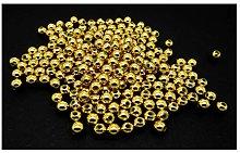 200 Gold Metallic Acrylic Spacer Beads 6mm J67820W