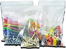 200 Large Clear Transparent Plastic Resealable